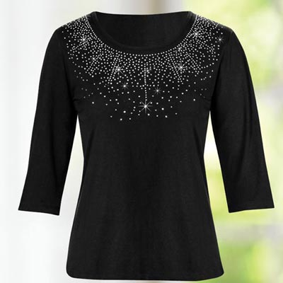 Crystal Embellished Top