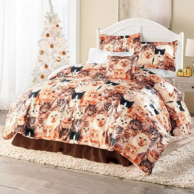 Cat Lovers Duvet Set & Accessory