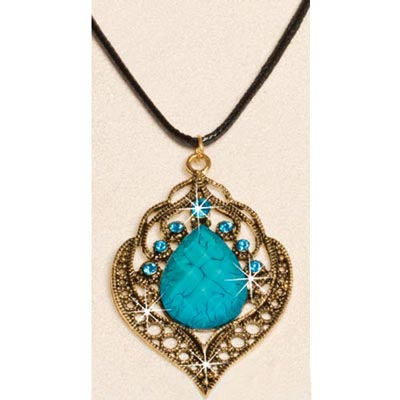 Filigree & Teardrop Necklace