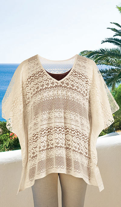 Crocheted Lace Poncho