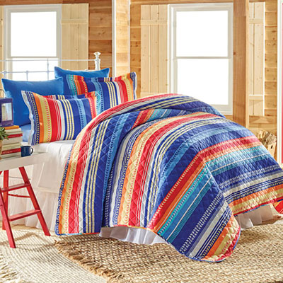 Fresh Stripe Quilt Set
