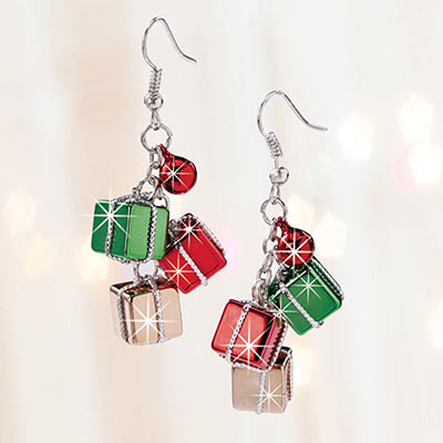Christmas Package Earrings
