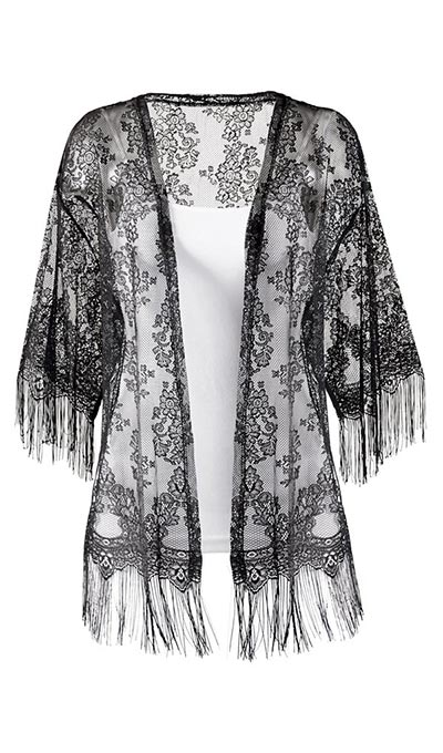 Romantic Black Lace Cardigan