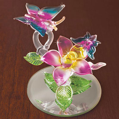Butterfly Blown Glass Sculpture