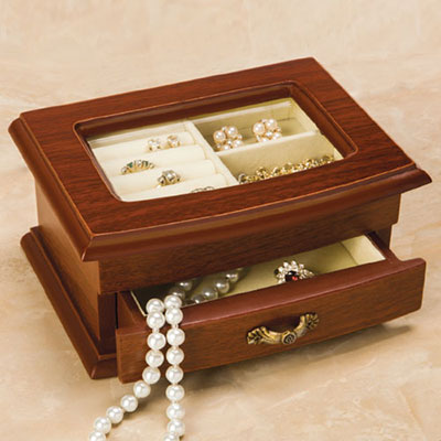 Glass Top Jewellery Box