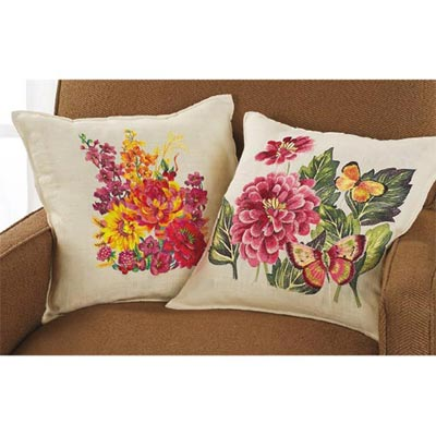Embroidered Blooms Pillows
