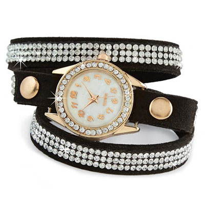 Blinged-Out Wrap Watch