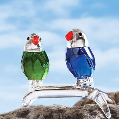 Colourful Crystal Parrots