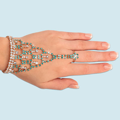 Captivating Crystals Bracelet & Ring Combo