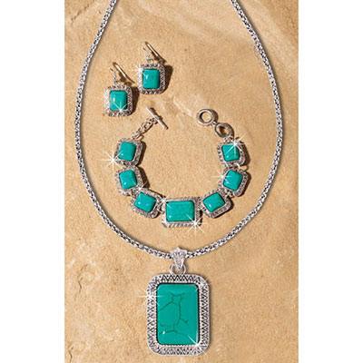 Faux Turquoise Southwest Jewellery Set