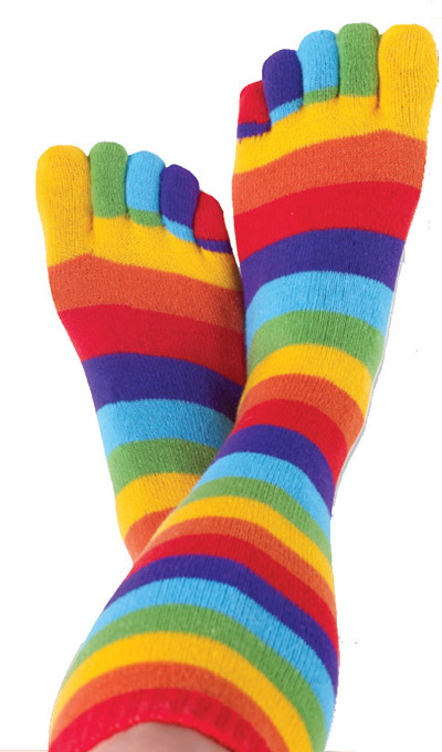 Rainbow Toe Socks - The Pair