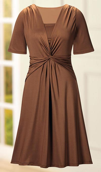 Knot Front Empire Dress