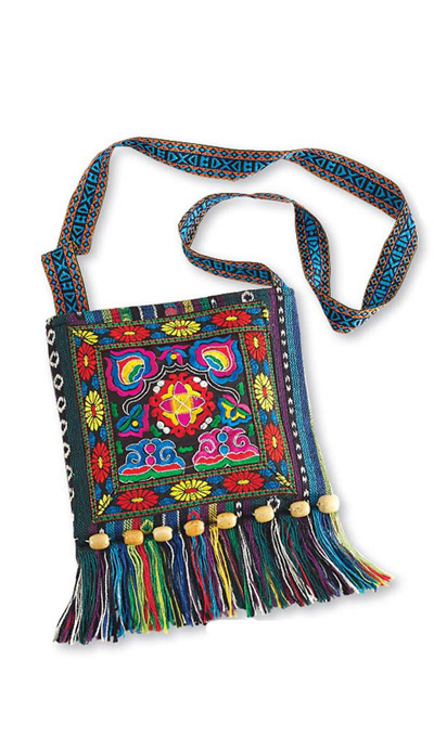 Colourful Hand Embroidered Purse