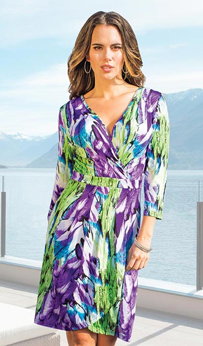 Intriguing Faux Wrap Dress