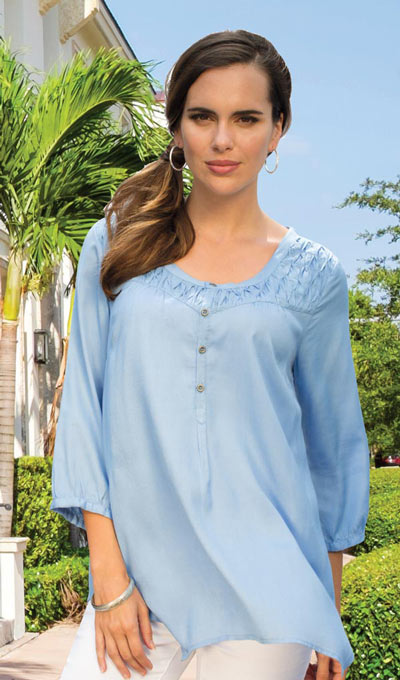 Smocked Peasant Top