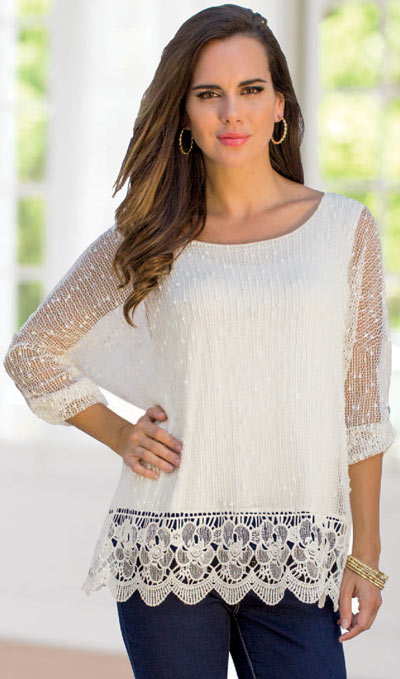 Lacey Crocheted Top