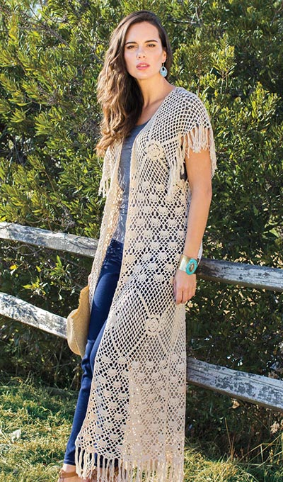 Long Fringe Crocheted Vest