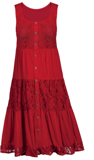 Lacy Tiered Dress
