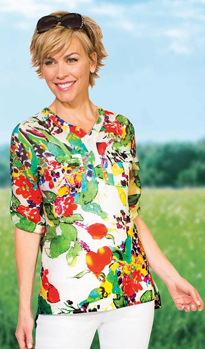 Colourful Blossoms Top