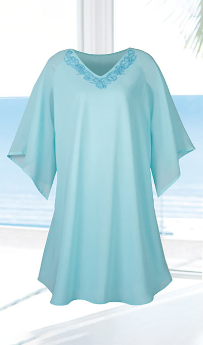 Embroidered Chiffon Cover-Up