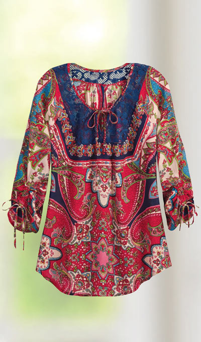 Boho Chic Paisley Top