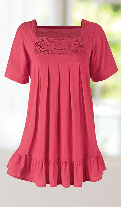 Crocheted Pleated Swing Top