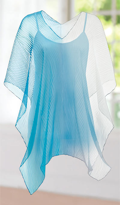 Asymmetric Sheer Ombré Cover-Up