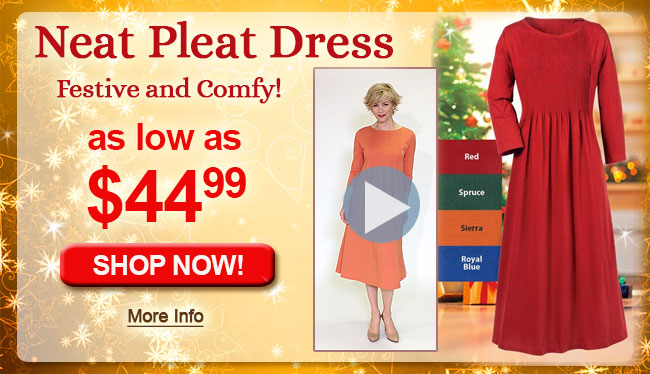 Neat Pleat Dress