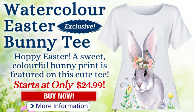 Watercolour Easter Bunny Tee