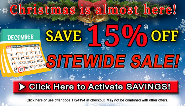 Save 15% off Sitewide