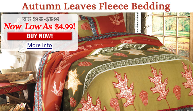 Autumn Leaves Fleece Bedding